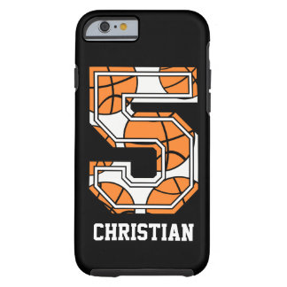 Personalisierter Basketball Nr. 5 Tough iPhone 6 Hülle