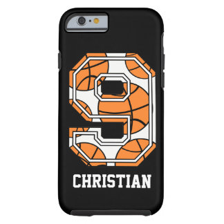 Personalisierter Basketball Nr. 9 Tough iPhone 6 Hülle