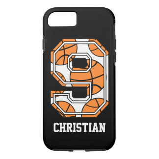 Personalisierter Basketball Nr. 9 iPhone 7 Hülle