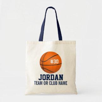 Personalisierter Basketball-Spieler-Name, Zahl, Budget Stoffbeutel