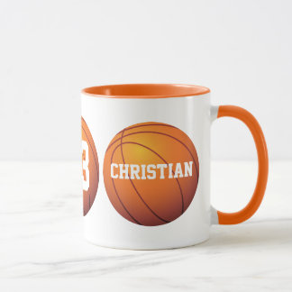 Personalisierter Basketball Tasse