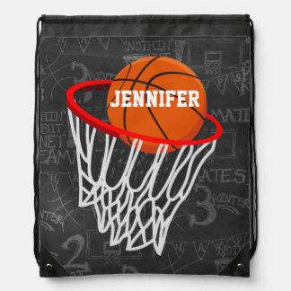 Personalisierter Basketball und Band Turnbeutel