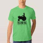 Personalisierter Bauernhof-Traktor dieses ist, wie T-shirt