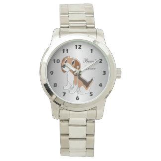 Personalisierter Beagle-Hundeentwurf Armbanduhr