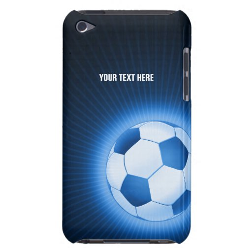 Personalisierter blauer Fußball-Ball (Fußball) Barely There iPod Case