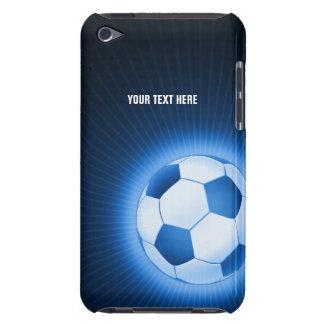 Personalisierter blauer Fußball-Ball (Fußball) iPod Touch Case-Mate Hülle