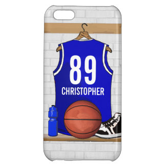 Personalisierter blauer und weißer Basketball iPhone 5C Hüllen