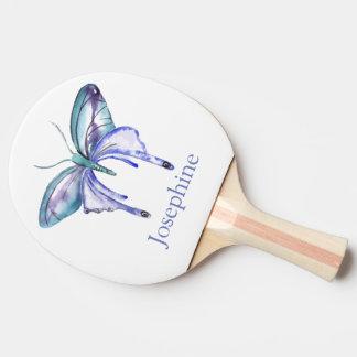 Personalisierter bläulicher lila tischtennis schläger