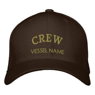 Personalisierter Boots-Namen-Crew-Hut Bestickte Kappen