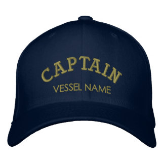 Personalisierter Boots-Namen-Kapitän Hat Bestickte Kappen