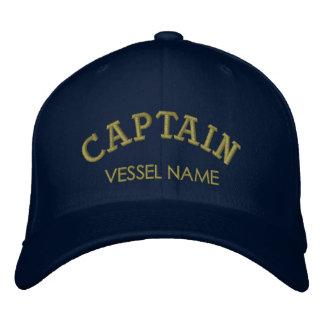 Personalisierter Boots-Namen-Kapitän Hat Bestickte Kappe