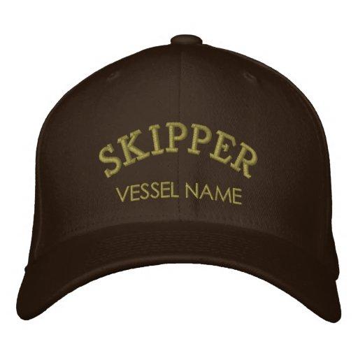 Personalisierter Boots-Namen-Kapitän-Hut Bestickte Mütze