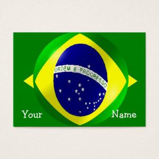 Personalisierter brasilianischer Flaggen-Entwurf Visitenkarte