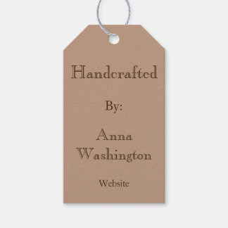 Personalisierter Brown Handcrafted Umbau Geschenkanhänger