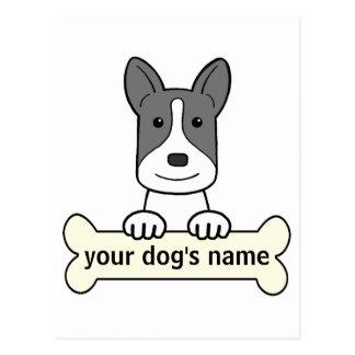 Personalisierter Canaan Hund Postkarte