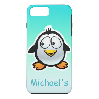 Personalisierter cooler Penguin-Cartoon iPhone 8 Plus/7 Plus Hülle