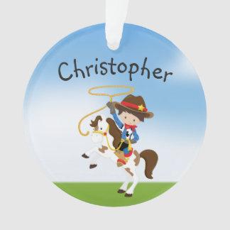 Personalisierter Cowboy auf Pferd mit Ornament