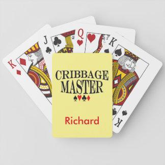 Personalisierter Cribbage Meister Spielkarten