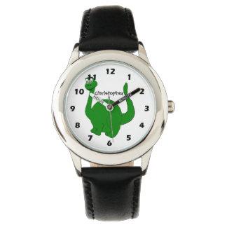 Personalisierter Dinosaurier-Entwurf Uhr