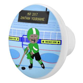 Personalisierter Eis-Hockeystern Keramikknauf