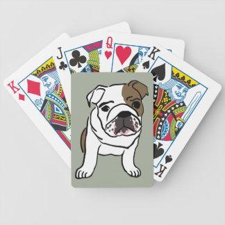 Personalisierter englischer Bulldoggen-Welpe Bicycle Spielkarten