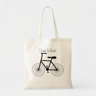Personalisierter Fahrrad-Entwurf Tragetasche