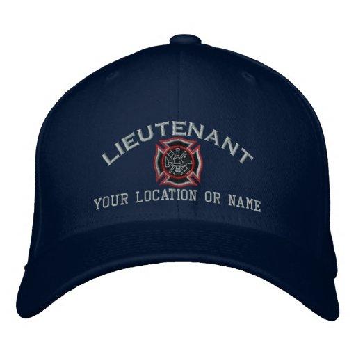 Personalisierter Feuer-Leutnant Custom Cap Bestickte Baseballmütze