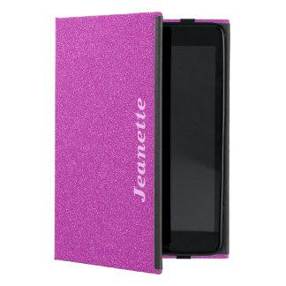 Personalisierter Foliofall, heißes Rosa-Körper iPad Mini Schutzhülle