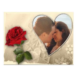 Personalisierter Foto-Valentinstag Postkarte