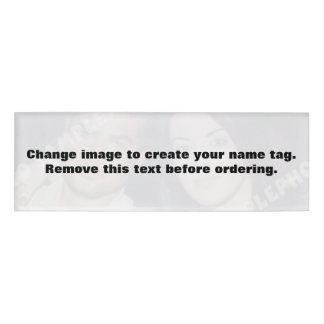 Personalisierter Fotonamenumbau. Machen Sie Ihre Namenschild