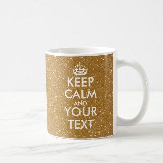 Personalisierter funkelnd GoldGlitter behalten Tasse