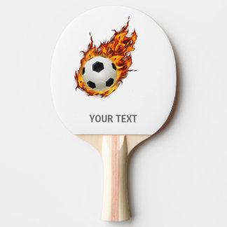 Personalisierter Fußball-Ball auf Feuer Tischtennis Schläger