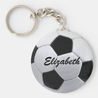 Personalisierter Fußball-Ball Keychain Standard Runder Schlüsselanhänger