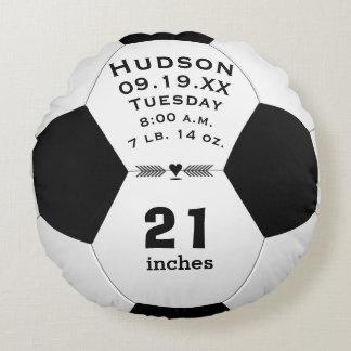 Personalisierter Fußball-Ball-Name und Rundes Kissen