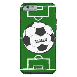 Personalisierter Fußball-Ball und Feld Tough iPhone 6 Hülle