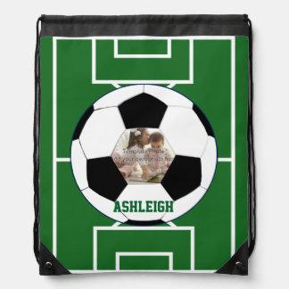 Personalisierter Fußball-Ball und Sportbeutel