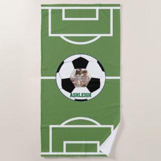 Personalisierter Fußball-Ball und Strandtuch