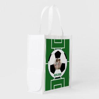 Personalisierter Fußball-Ball und Wiederverwendbare Einkaufstasche