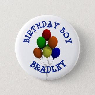 Personalized Birthday Boy Balloon  Button