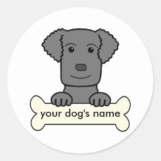 Personalisierter Gelockt-Überzogener Retriever Sticker