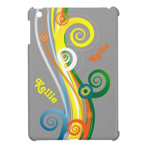 Personalisierter gelockter gestreifter MiniiPad Fa Hülle Fürs iPad Mini