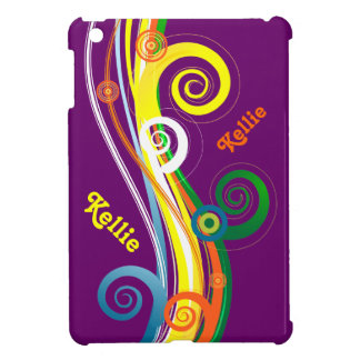 Personalisierter gelockter gestreifter MiniiPad Fa iPad Mini Hüllen