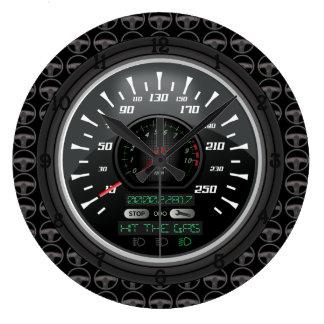 Personalisierter Geschwindigkeitsmesser Große Wanduhr