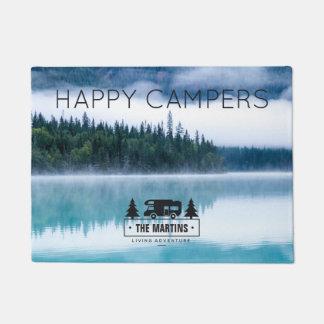 Personalisierter glückliche Campers See der Türmatte