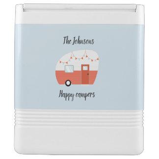 Personalisierter glückliche Lagerbewohner-coolerer Igloo Kühlbox