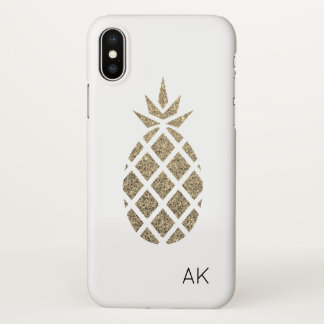 Personalisierter GoldGlitzer-Ananas iPhone X Fall iPhone X Hülle