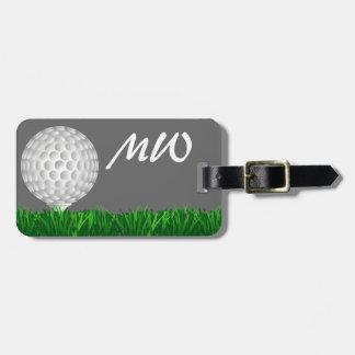 Personalisierter Golfspieler des Golfballs Kofferanhänger