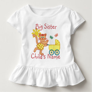 Personalisierter große Schwester-niedlicher Kleinkind T-shirt