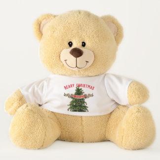 Personalisierter großer Beary Weihnachtsteddy-Bär