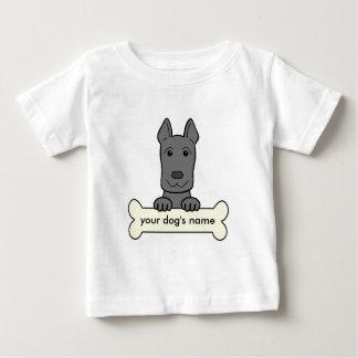 Personalisierter großer Däne Baby T-shirt